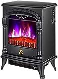 Conjunto eléctrico de la estufa de chimenea, calentador de chimenea independiente portátil, ajuste de alimentación de dos velocidades anti-scald shell, calentador interior con llama de lo quemador.