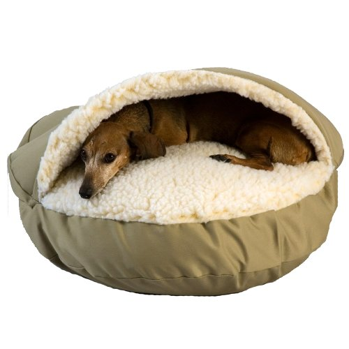Snoozer Cozy Cave, Khaki, Small