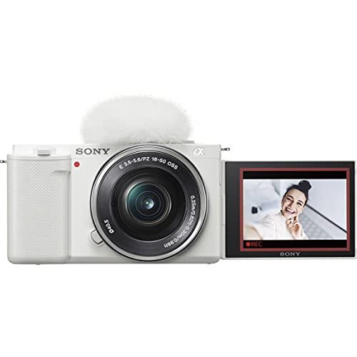 ソニー レンズ交換式 VLOGCAM ZV-E10L W パワーズームレンズキットホワイト Vlog用カメラ Cinematic Vlog ...