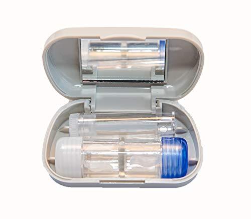 Reiseset Grau RGP harte Kontaktlinsen Spiegel RGP-Behälter und Kontaktlinsensauger