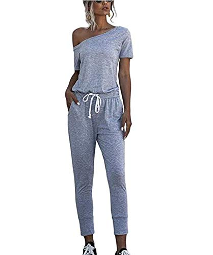 Dames Jumpsuits - Jumpsuits met korte mouwen Off Shoulder Jumpsuits Loungewear Suit