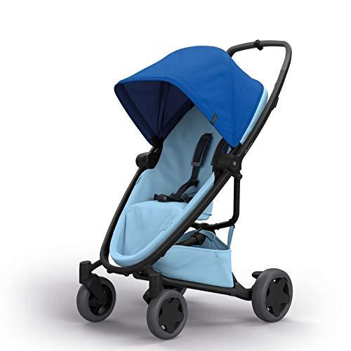Quinny Zapp Flex Plus, Passeggino Leggero e Compatto, reversibile fronte strada e fronte mamma, reclinabile, 4 ruote grandi, colore Blue on Sky