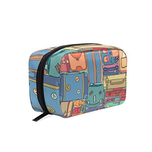FANTAZIO Bolsas de cosméticos para mujer colección de maletas de viaje vintage...