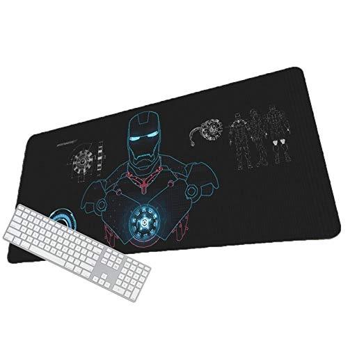 Almohadilla de ratón de gran juego, Base de goma antideslizantes de Avengers, espesor impermeable de 3,4 mm, diseño de tela portátil con marco de puntada resistente al desgaste: estera de juego suave