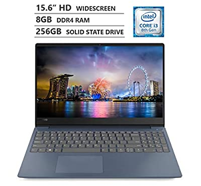 "2019 Newest Lenovo Ideapad 330S 15.6"" HD Narrow-bezels Widescreen Laptop, Intel Core i3-8130U Processor up to 3.40GHz, 8GB RAM, 256GB Solid State Drive, HDMI, Wireless-AC, Bluetooth, Windows 10, Blue"