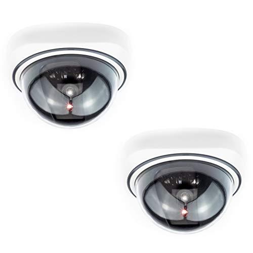 Digicharge® Domo Cámara Seguridad Falsa Interior Exterior Calidad CCTV Cámara de Vigilancia con Intermitente Luz LED