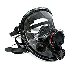 7600 Series Silicon Full Facepiece with 5 Strap Head Harness & Dual Cartridge