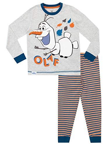 Frozen Pijamas de Manga Larga para niños El Reino del Hielo Gris 5-6 Años