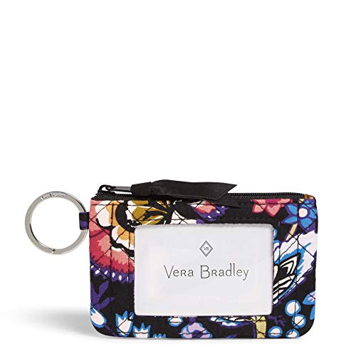 Vera Bradley Women's Signature Cotton Zip ID Case Wallet, Foxwood, One Size