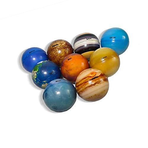 Bolas De Planetas Del Sistema Solar, Bolas De Estrés Del Sistema Solar, Juguete Educativo De Aprendizaje Para Niños, Planetas Del Espacio Exterior Para Decoración De Escritorio De Oficina En Casa