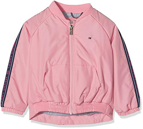 Tommy Hilfiger Mädchen Essential Tommy Tape Jacket Jacke, Pink (Pink Tf4), One Size (Herstellergröße: 80)