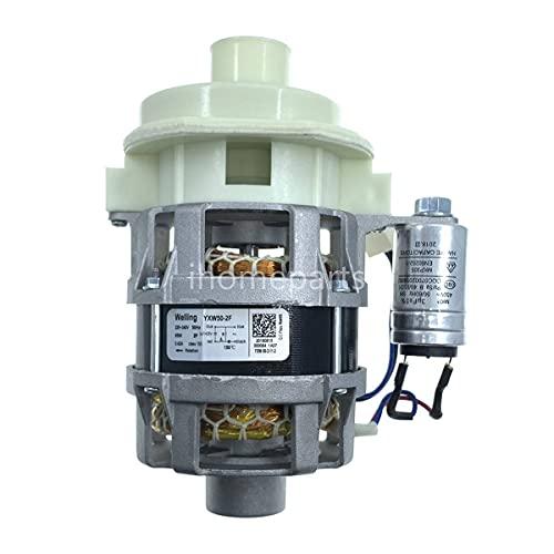 IOUVS Motor de Bomba de circulación de lavavajillas Ajuste para Hansa/Candy/Hoover Welling YXW50-2F 220V 95W