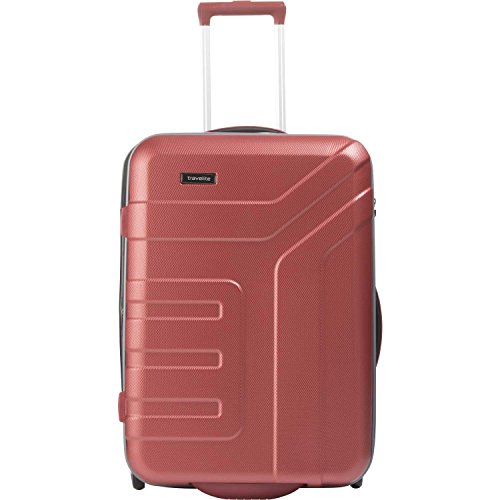 Travelite Valise trolley 'Vector' avec 2 roues rouge Koffer, 64 cm, 80 liters, Rot (Rouge)