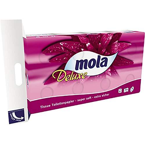 mola Mola Toilettenpapier Deluxe 201881 4lagig 152Blatt 8 Rl./Pack.