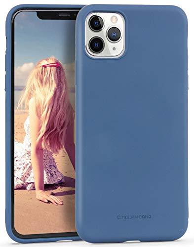 Imikoko Carcasa para iPhone 11 Pro (5,8 pulgadas), carcasa de silicona mate, fina, resistente a los golpes, carcasa fina de goma, resistente a los arañazos