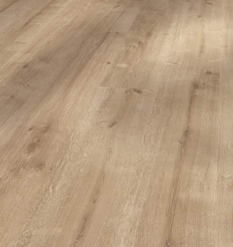 Parador Laminat Basic 400 - Eiche geschliffen - Hochwertiger Laminatboden mit Klick-Verbindung - Set mit 10 Dielen im Paket = 2,49 m²