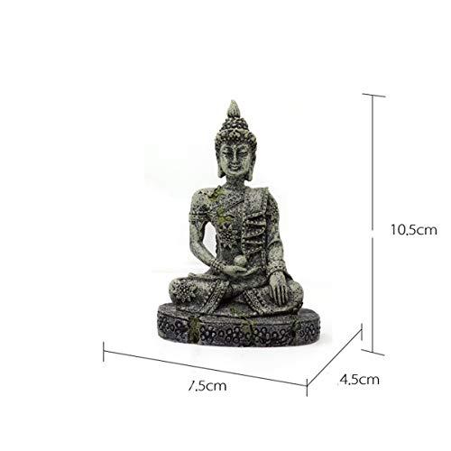 HLONGG Fish Tank Dekorationen Buddha-Statue Dekoration Für Aquarium Dekor Aquarium Polyresin Buddha Antike,A
