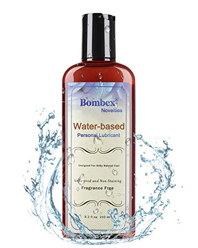 BOMBEX Water Based Personal Lubricant - Slick & Long Lasting Personal Lube for Women & Men, 8.2 Fluid Ounces, Top Rated by Couples, Unflavored