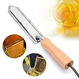 Cuchillo eléctrico para colgar panal de abejas, herramienta profesional de extracción de raspador de miel, cuchilla de grado alimenticio de calentamiento rápido para apicultura Equipo de cosecha miel