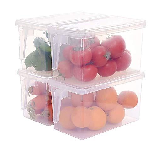 SXDY 4 stuks transparant PP Grains Beans opbergdoos, verzegelde Home Organizer voedsel container koelkast bewaardozen voor de keuken