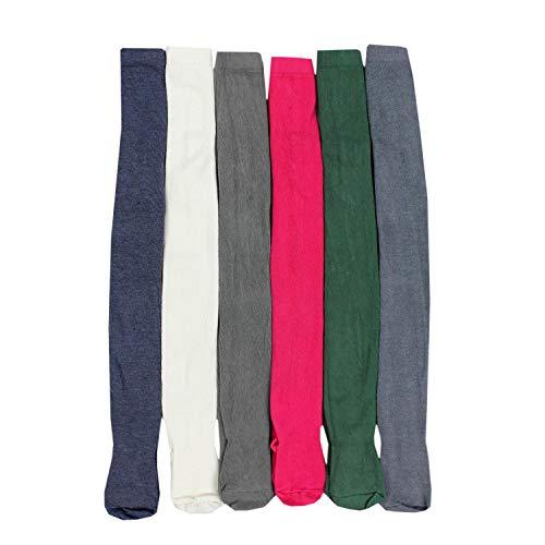 TupTam Mädchen Strickstrumpfhosen Bunt Gemustert 6er Pack, Farbe: Farbenmix 12, Größe: 92-98