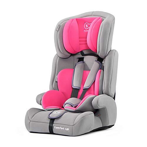 Kinderkraft Kinderautositz COMFORT UP, Autokindersitz, Autositz, Kindersitz, Gruppe 1/2/3 9-36kg, 5-Punkt-Sicherheitsgurt, Einstellbare Kopfstütze, ECE R44/04, Rosa