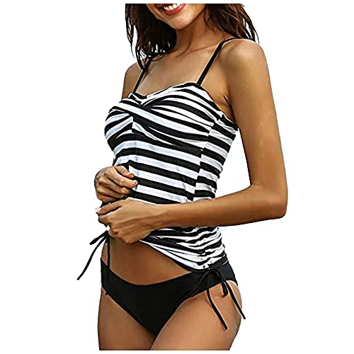 Bilbull Damen Sommermode Sexy Printed V-Ausschnitt Halter Bikini Strand Bademode Neckholder Beach Swimwear Bunte Elegante Anzug Mit Pad