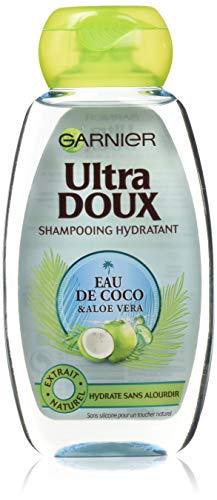 Garnier Ultra Doux Shampooing Eau de coco/Aloe Vera 250ml - Lot de 4