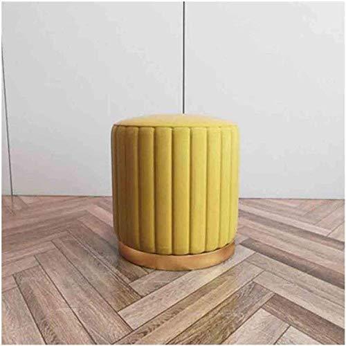 Schoen Bench Vintage Microfiber Fabric voetenbank Shoe Bench Rest Bench Seat voetenbankje Sofa Kruk kaptafel Kruk Footrest Poef (Color : Yellow)
