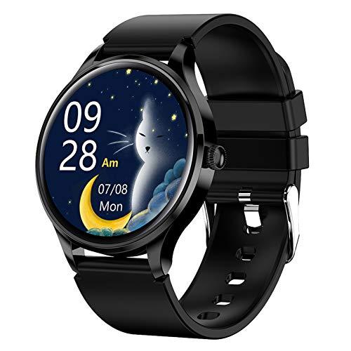 BNMY Smartwatch Reloj Inteligente Impermeable IP68 para Hombre Mujer, Pulsera Actividad Inteligente con Pulsómetros Monitor De Sueño Podómetro Reloj Deportivo para Android iOS,Negro