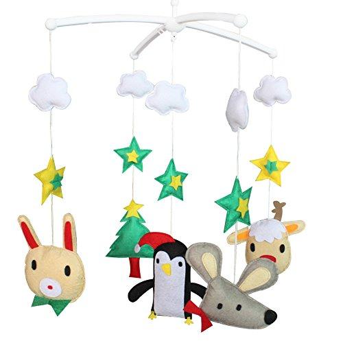Décoration de pépinière de cadeau de jouet mobile de lit de bébé fait main pour 0-2 ans, MQ10