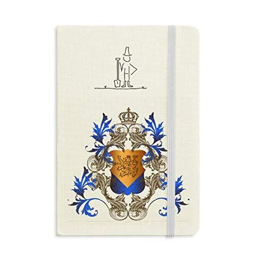 Agenda clásica de caballeros medievales de Europa, diseño de escudo de granjero, tamaño A5