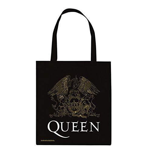 QUEEN クイーン (結成50周年) - Crest/トートバッグ 【公式/オフィシャル】