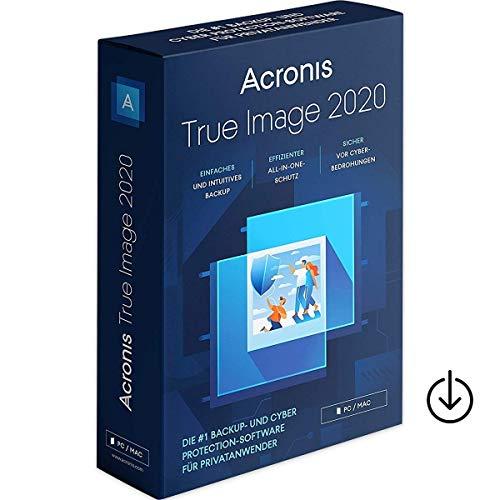Acronis True Image 2020|1Gerät|Vollversion|unbegrenzte Laufzeit|Aktivierungscode per Post [Lizenz][KEINE CD][NO