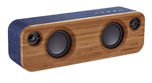 House of Marley Get Together Mini, tragbare Bluetooth Box, 2,5 Zoll Subwoofer & 1' Hochtöner, 10 Std. Akkulaufzeit, Aux-In, Laden per USB, Lautsprecher Telefonie für iPhone, iPad, Samsung etc, denim