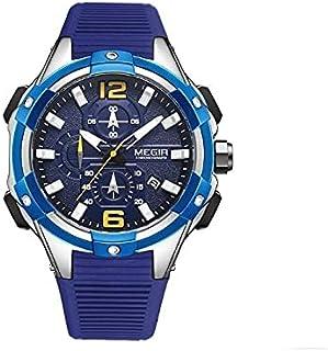 Megir Casual watch For Men Chronograph Silicone MN2161GREBK-1 Blue , 2725615598749