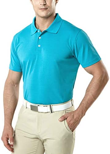 TSLA Men s Short Sleeve Polo Shirts Regular fit Quick Dry Golf Shirts Sports Performance Dri product image