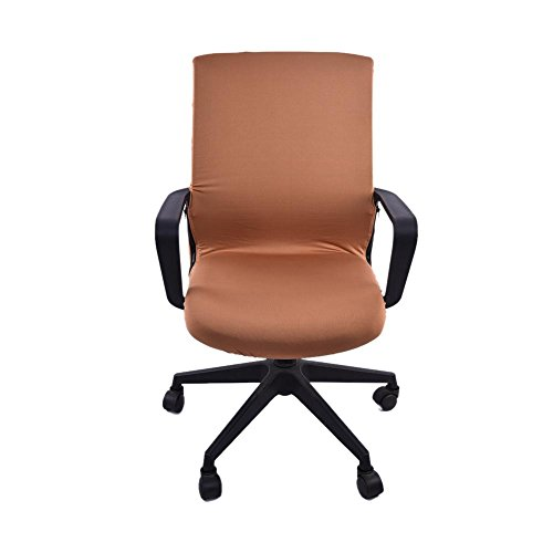 Sanmubo Office Chair Cover Computer Chair Cover Swivel Chair Cover Computer Armchair Protector Cover Slipcover Internet Bar Back Seat Cover Elastic Fabrics Sturdy and Durable