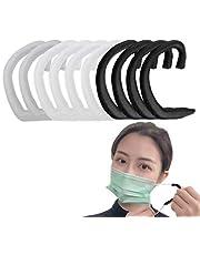 (10枚入) シリコンイヤーフック 拡張フック 耳が痛くない 補助道具 エクステンションフック 調節可能な 再利用可能 アクセサリー 大人 子供用