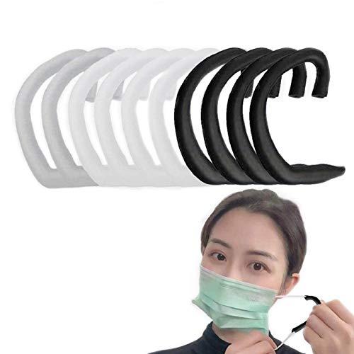 (10枚入) シリコンイヤーフック 拡張フック 耳が痛くない エクステンションフック 補助道具 再利用可能 調節可能な アクセサリー 大人 子供用