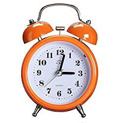 Alarm Clocks - Portable Fashion Classic Silent Double Bell Alarm Clock Quartz Movement Bedside Night Light - Health Weddings Toys Accessories Girls Electronics Home Beauty Computers Phones Cell