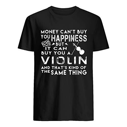 El dinero no puede comprar su felicidad pero puede comprar una camiseta de violín