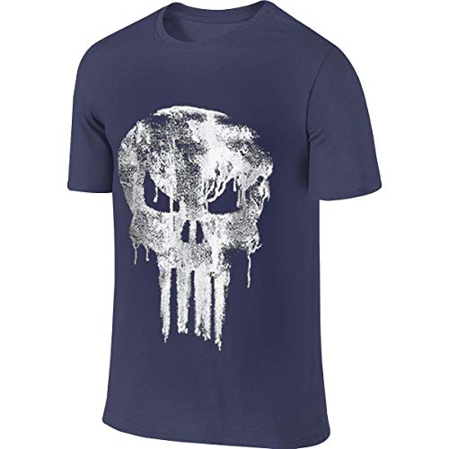jjk Men's Design Cool Tees Punisher Dripped Skull T Shirt Camisetas y Tops(XX-Large)