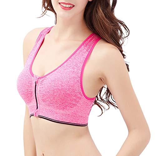 TEBAISE Damen Komfort Klassische Sport BH Starker Halt Große Brüste Gekreuzt Rücken Ohne Bügel Bustier für Top Fitness Lauf Yoga Training