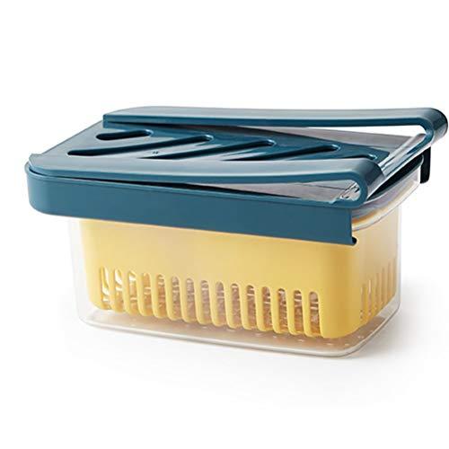 Bireegoo 1 x Kühlschrank-Aufbewahrungsregal, Kühlschrank-Schublade, Küchenorganizer, Lebensmittelbehälter, Frischhalte-Kühlschrankkorb zur Aufbewahrung von Obst.