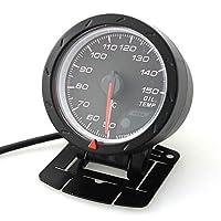 電子計測機器 60mm 12V車LEDオイル温度温度計車両メーター4-6- 8-シリンダーエンジンセンサー付き50〜150摂氏