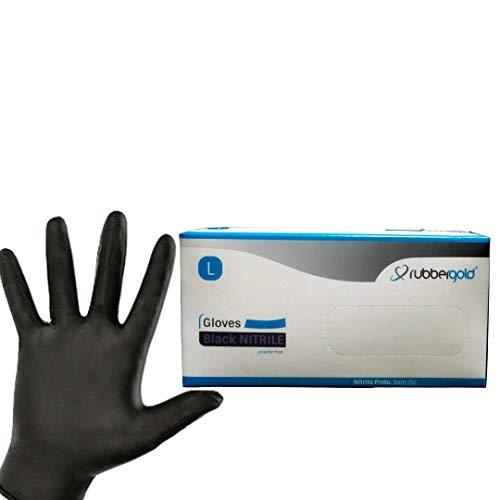 Guantes de nitrilo sin polvo, Caja de 10...