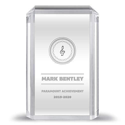 Note Card Café Custom Crystal Clear Acrylic Award | Multiple Shapes | Includes Laser Engraving |...