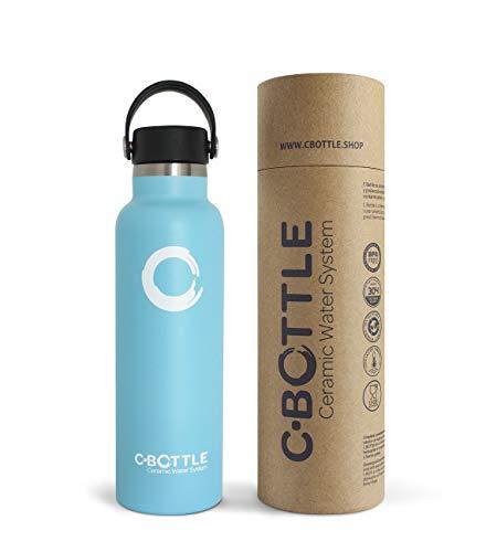 N C-Bottle Botella Agua Acero Inoxidable 600ml con Recubrimiento Interior Cerámico, Libre de BPA y Malos Sabores, Botella Termica Resistente y Ligera, Eco-Friendly