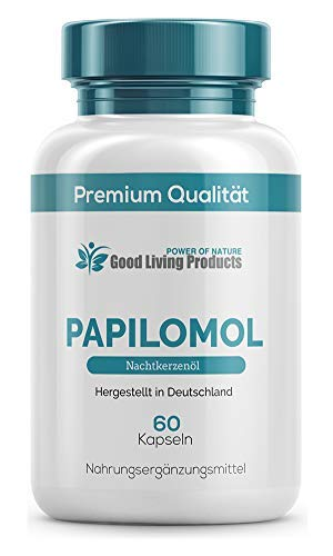 Papilomol Kapseln | (Hochdosiertes Nachtkerzenöl) Gegen Warzen & Papillome, 60 Kapseln | 1 Dose